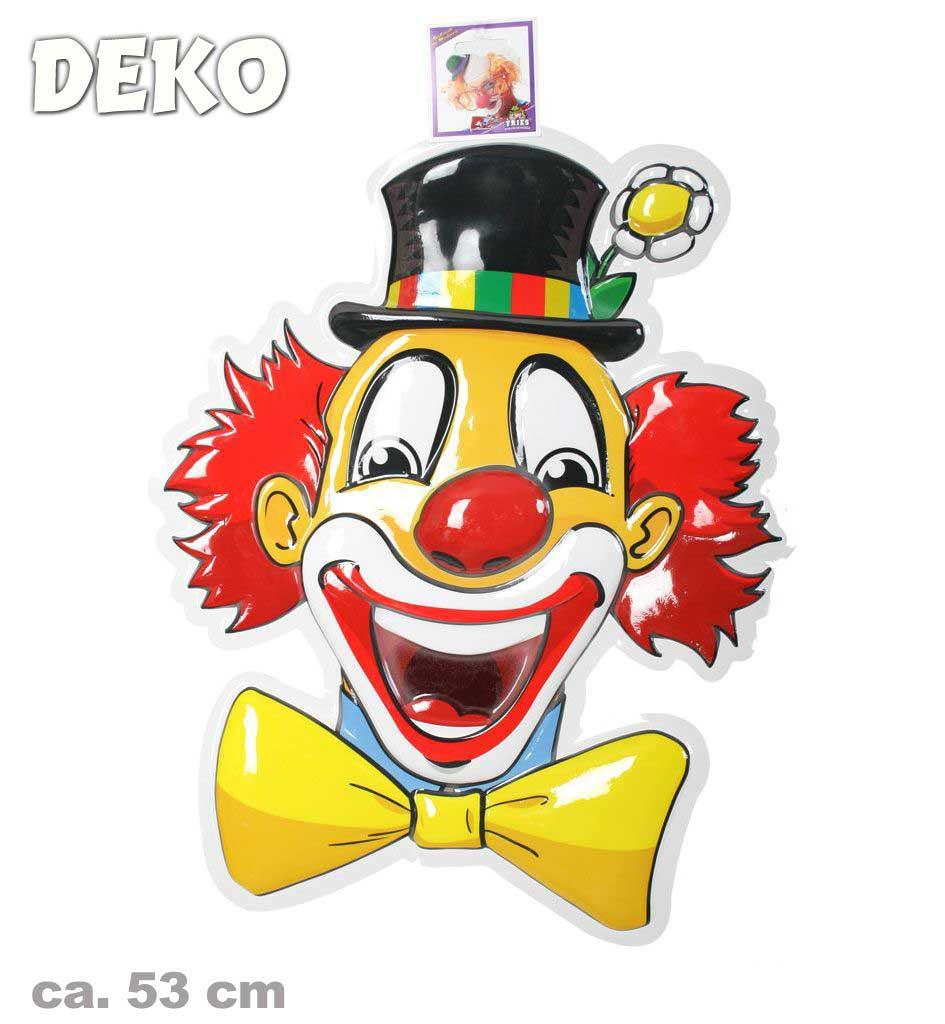 Wand-Deko Clown, Ca. 53cm Groß