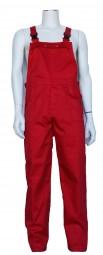 Latzhose, Arbeiterhose, mit insgesamt 6 Taschen. Farbe: rot. Profiqualität